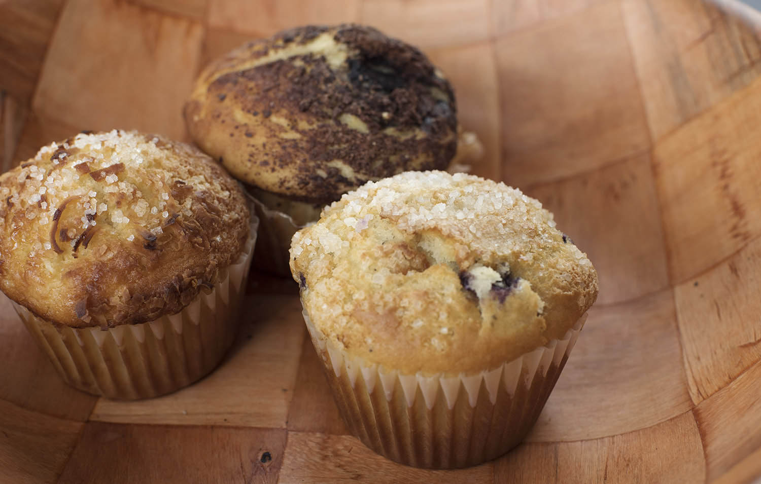 Muffins from The Pastry Pantry now available at Apostrophe Cafe at Proctors. Baked locally and delivered every Monday, Wednesday and Friday. Photo taken Thursday, Mrch 15, 2018.
