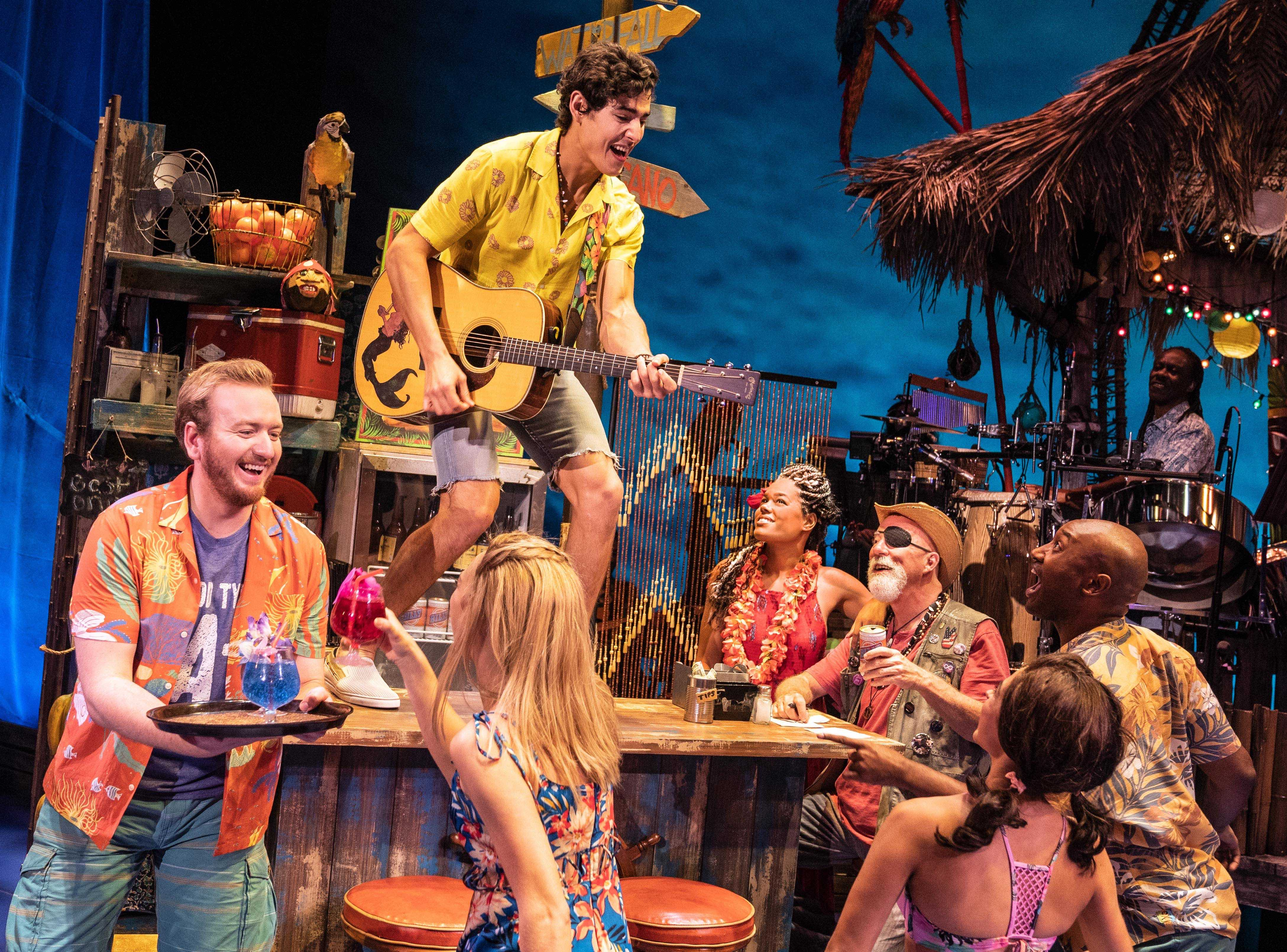 Company of the National Tour, Jimmy Buffett's ESCAPE TO MARGARITAVILLE. © Matthew Murphy