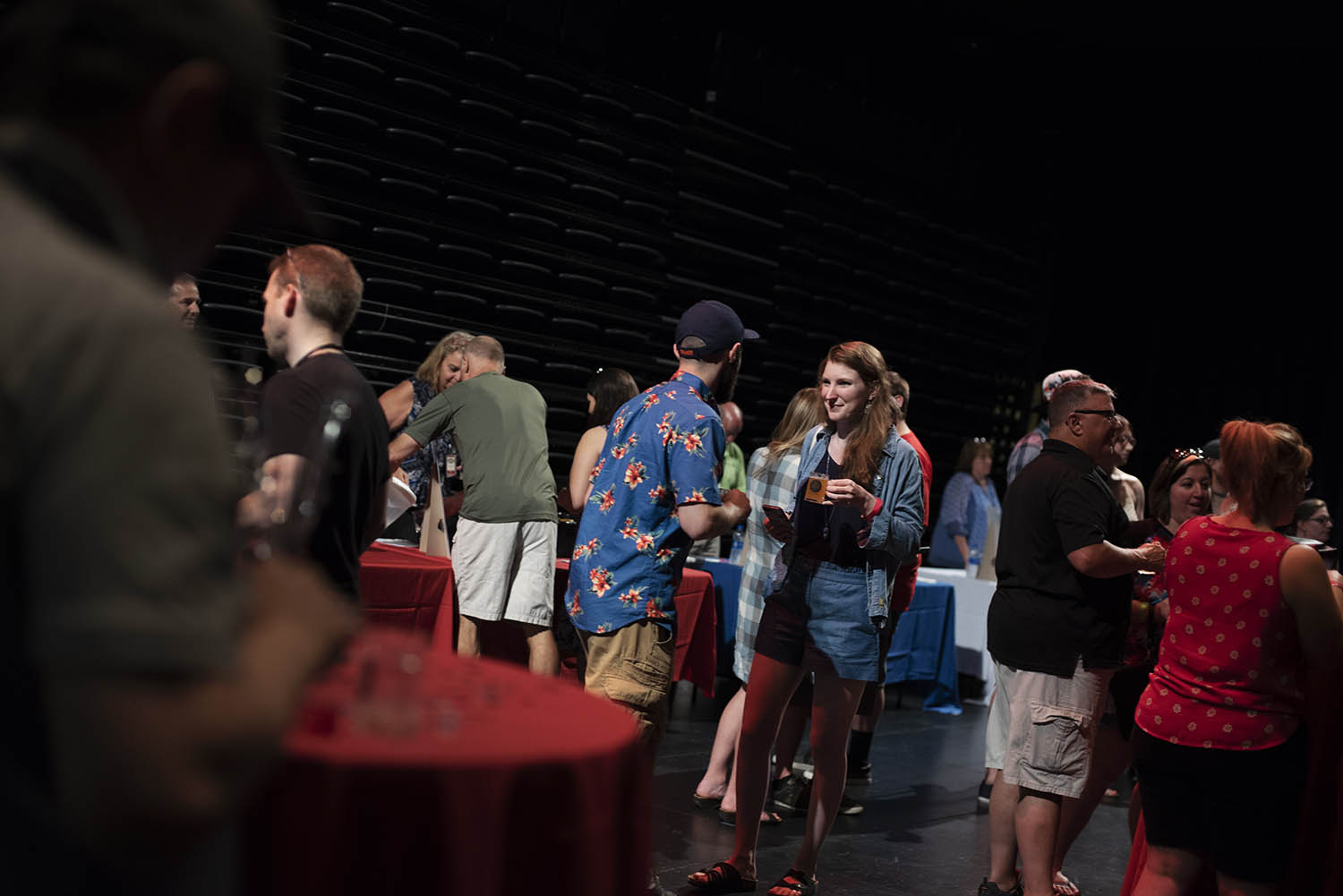 Patrons sample beer and cider during Red, White & Brew at Proctors Friday, June 30, 2018.
