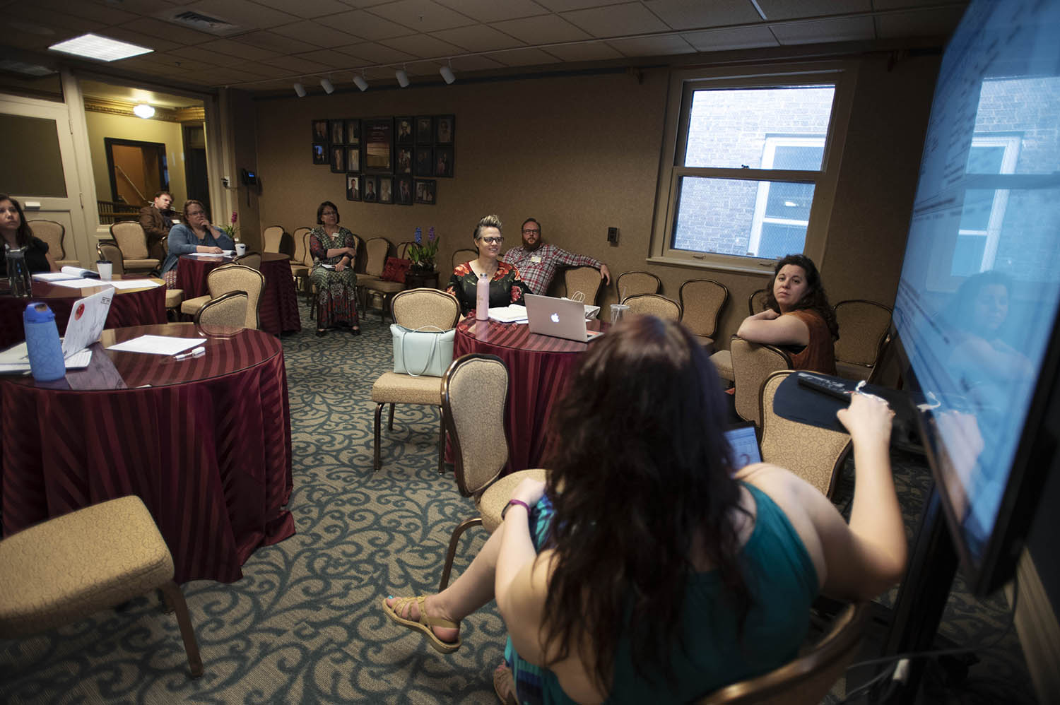 Conference goers meet in the Delack Guild Room during TM3, Theatre Manager Third National Conference, at Proctors in Schenectady Thursday, May 3, 2018.